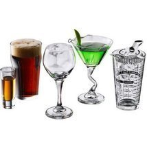 Cocktail Bar Glasses 18 Drinking Clear Glassware Collection  - $47.00