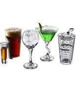 Cocktail Bar Glasses 18 Drinking Clear Glassware Collection  - ₨3,055.57 INR
