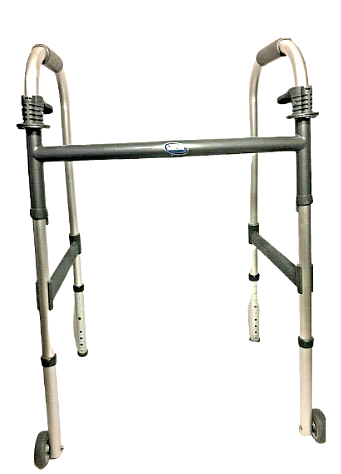 Primary image for Invacare Dual Release Folding Walker Aluminum / Fixed Wheels (Adjustable Height)
