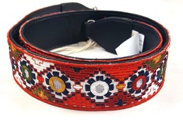 "Mossimo Western Boho Hippie Fabric Waist Belt Womens Sz Medium 45"" Long ... - $11.29"