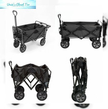 Mac Sports Collapsible Outdoor Utility Wagon with Folding Table and Drin... - $91.82