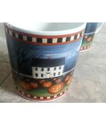 """4 David Carter Brown Collection """"Pumpkin Hollow"""" Set 2001 11 oz mug cup ... - $39.59"""