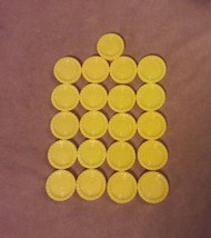 CONNECT 4 Game Replacement pieces parts 21 YELLOW CHECKERS 2009 - $7.69