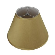 Urbanest Coolie Hardback Lampshade, Faux Silk, 7-inch by 14-inch by -9inch, Gold image 2