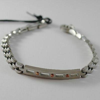 Bracelet Polished Steel with Plate Cesare Paciotti 4US Item 4UBR4183