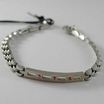 Bracelet Polished Steel with Plate Cesare Paciotti 4US Item 4UBR4183 image 1