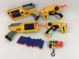 Maverick Revolver Blaster N-Strike Nerf Lot (5) Dart Gun Hasbro w Darts ... - $40.05