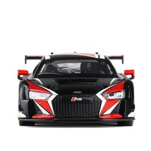 Audi R8 LMS 1:24 Scale Diecast Alloy Metal Sports Car Model Toy White/Re... - $32.99