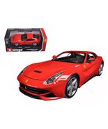 Ferrari F12 Berlinetta Red 1/24 Diecast Model Car by Bburago 26007r - $33.21