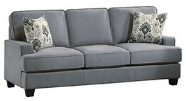Homelegance Kenner Sofa Modern Classic T-Cushion Design with Two Accent ... - $759.23