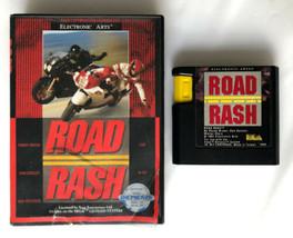 ☆ Road Rash 1 (Sega Genesis 1991) AUTHENTIC Game Cart & Box Tested Works ☆ - $13.99