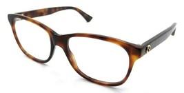 Gucci Eyeglasses Frames GG0166O 006 54-17-140 Havana Made in Italy - $245.00