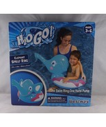Bestway H20 Go! Inflatable Swim Ring w/ Built-In Hand Pump -New - Blue E... - $14.24