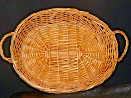 Handmade Woven Wicker Basket with Double Handles AA-191712 Vintage Collectible image 9