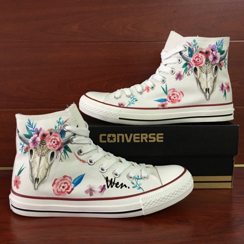 6b05909490a0 Img 7228. Img 7228. Previous. Indian Style Ox Bone Totem Floral Hand  Painted Canvas Shoes Unisex Converse