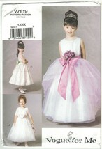 Vogue 7819 Girl's Flowergirl Communion Princess Dress & Jacket Size 5 6 ... - $11.75