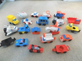 Lot of (21) Fisher Price Toy Vehicles-Train, Trucks, More-FREE SHIPPING! - $29.69