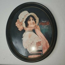 Vintage Coca Cola Tray 1914 Betty Girl Reproduction 1972 - $16.07
