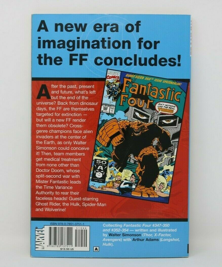 Fantastic Four Visionaries By Walter Simpson Marvel Book Comic Clean
