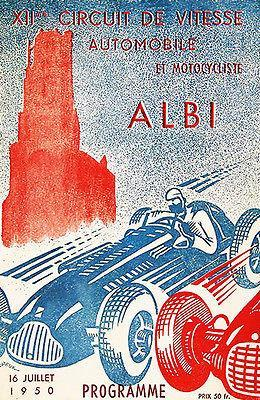 Primary image for 1950 Albi Grand Prix - Promotional Advertising Poster