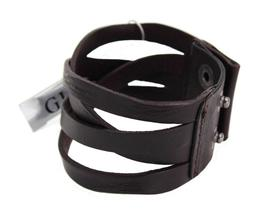 Guess Men's Braided Cuff Wristband Bracelet Cross Road Black 102252 image 3