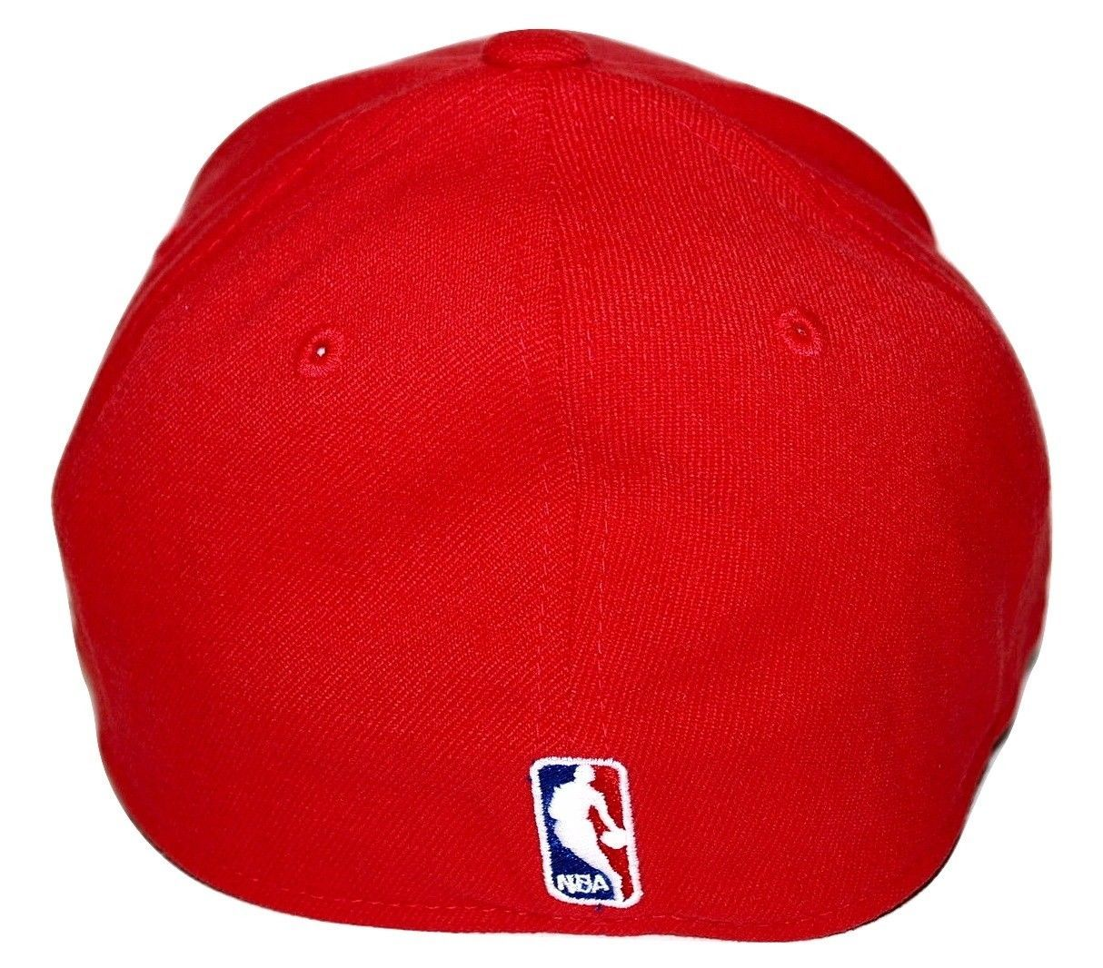 Detroit Pistons Reebok NBA Basketball Team Logo Stretch Fit Cap Hat SM MD cd3266412a4d