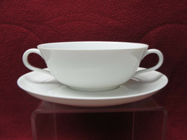 ROSENTHAL China - HELENA Pattern (all white) - CREAM SOUP BOWL & SAUCER - $27.95