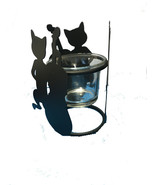 CATS PLAYING INSTRUMENTS DECORATIVE CANDLE HOLDERS - $6.82