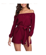 ITCQUALITY WOMEN PLAY SUIT JUMPSUIT ROMPER CASUAL WITH BELT 3/4 SLEEVE I... - $49.00