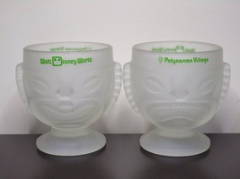 Vintage Walt Disney World Polynesian Village Tiki Frosted Glass Mugs-Set Of 2 - $29.99