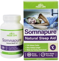 Peak Life - Somnapure Natural Sleep Aid Bonus Pack - 60 Tablets - $96.99