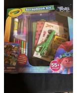 Dreamworks Trolls World Tour Crayola Scrapbook Kit 55 Pieces Brand New - $12.60