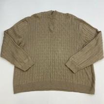 Tasso Elba Sweater Men's Size 2XL XXL Long Sleeve Tan 1/4 Zip Pullover C... - $19.99