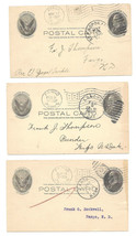 3 UX18 Postal Cards Fargo ND Flag Cancel Langdon Duplex St P Spok RMS Ma... - $4.99