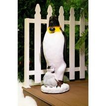 37 in. H Solar Christmas Penguin Statue Decor - $192.12