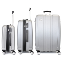 Miami CarryOn 3 Piece Expandable Hardside Spinner Luggage Set, Combinati... - $149.99