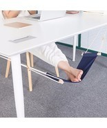 Portable Office Foot Stand Adjustable Travel Sling Home Desk Feet Hammoc... - $439,62 MXN