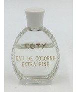 Vintage Coty Eau De Cologne Extra Fine 1 Oz 60% Full Retro Bottle - $19.95