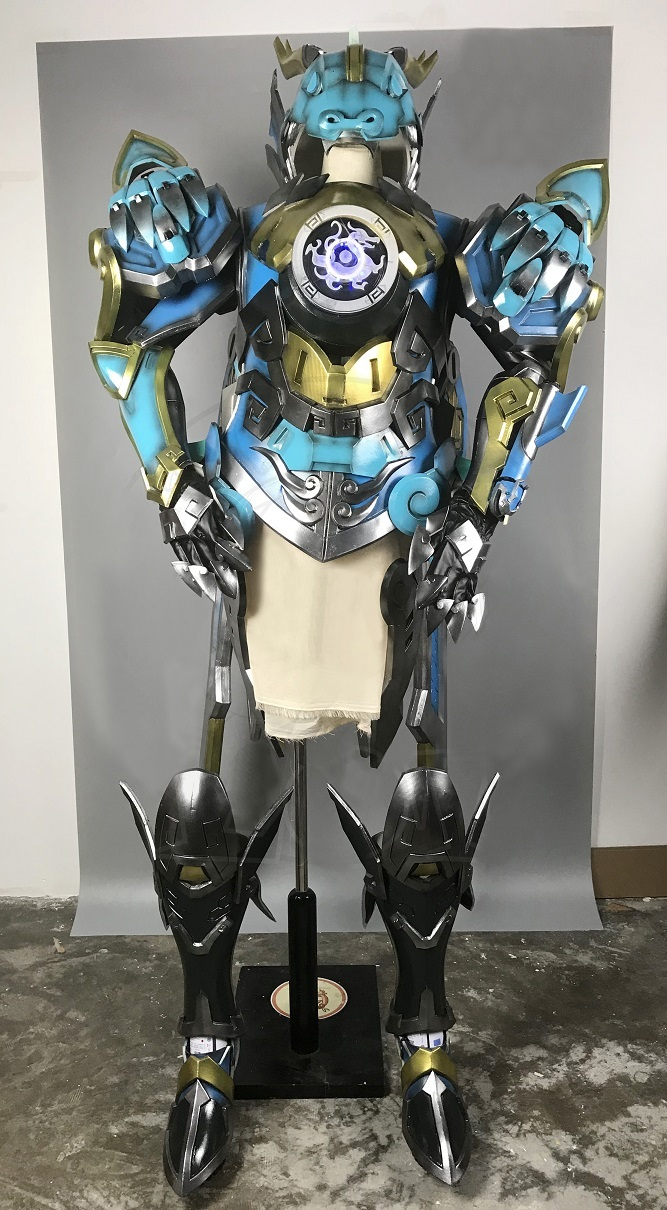 Overwatch pharah skin qinglong cosplay armor for sale