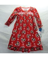 Minnie Mouse Girls Toddler Disney Flannel Size 2T Granny Gown Nightgown Red - $26.39