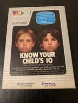 COMMODORE VIC 20 Know Your Child's IQ tested boxed cassette software tes... - $7.99