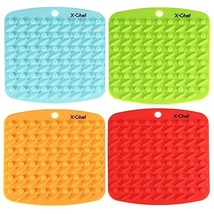 X-Chef Silicone Pot Holder, Heat Resistant Hot Pads, Trivet Mat, Jar Ope... - $22.33