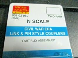 Micro-Trains Stock # 00102060 (2006) Civil War Era Link & Pin Style Couplers (N) image 2