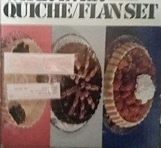 Wear-Ever Quiche Flan Set 4 Pc Aluminum Bakeware 90001 Fluted Pie NEW IN... - $37.39