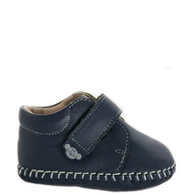 Boy's Rilo Baby Blue Signature Logo Crib Shoe - $29.23