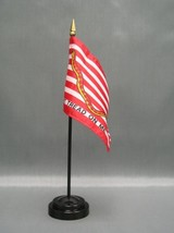 """First Navy Jack 4X6"""" Table Top Flag W/ Base New Desk Top Handheld Stick Flag - $4.95"""