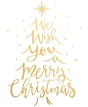 Holiday Lane We Wish You A Merry Christmas Gold-Tone Typography Wall Decal - $24.90