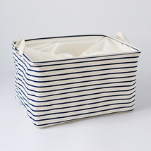 FULLLOVE® S/M/L Blue Striped Cotton Storage Basket Storage Bags for Kids... - $8.45+