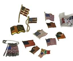 Vintage Pin Lot Flags Patriotic USA - $14.84