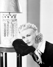 Ginger Rogers Forlornly Leaning On Table By Lamp 16X20 Canvas Giclee - $69.99